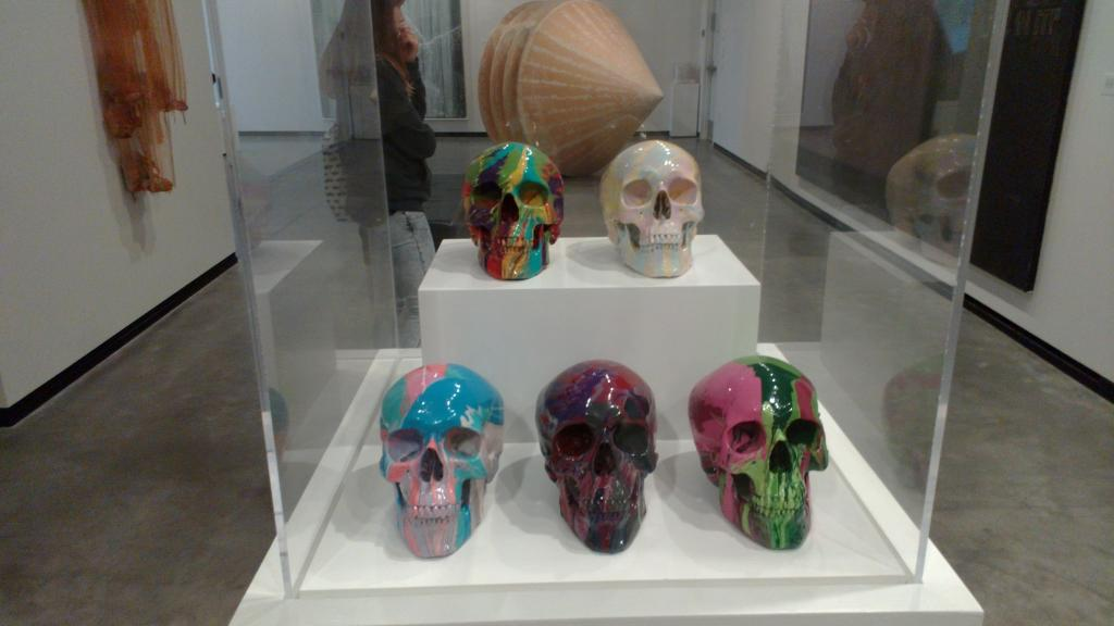 As we are close to the birth-place of the hippie mouvement, I guess those are the skulls of some hippies ;)
